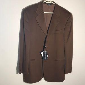 Hathaway platinum 100% pure cashmere sport coat